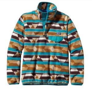 PATAGONIA SYNCHILLA Brown patterned Pullover